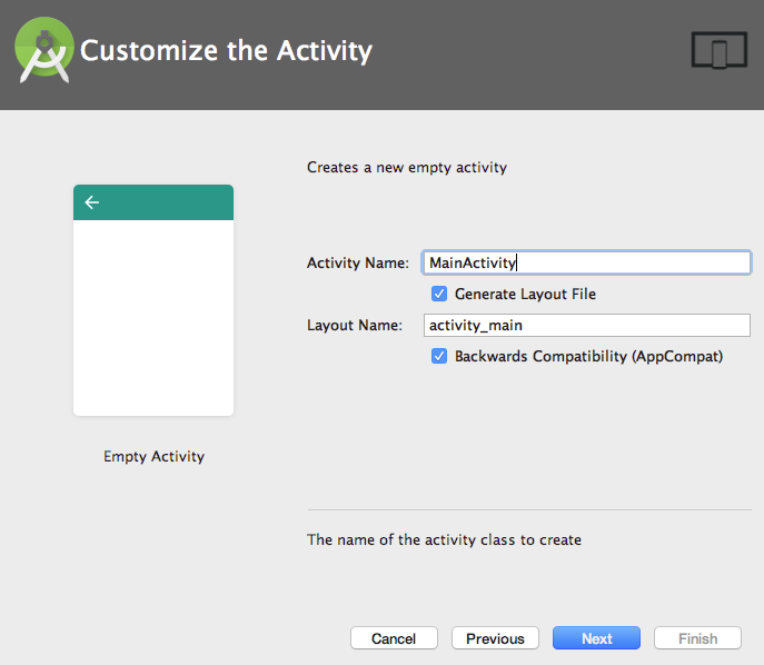 Android Customize Activity